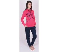 Комплект штанов и футболки с длинным рукавом на байке Nicoletta Арт: 88240