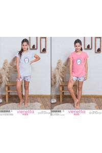 Детская пижама для сна из шорт и футболки Vienetta Kids Арт: 009086-0153