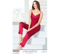 Комплект сатиновый из штанов и майки на тонких шлейках Vienetta Secret Арт: 160830-4999