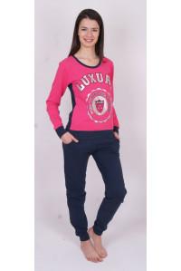 Комплект штанов и футболки с длинным рукавом на байке Nicoletta Арт: 88242