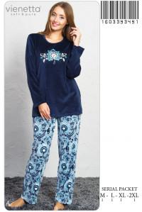Комплект велюровый из штанов и футболки с длинным рукавом Vienetta Secret Арт: 160339-3491