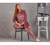 Комплект женский из штанов и футболки с длинным рукавом SEVIM Арт: 11768