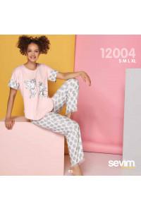 Комплект женский из штанов и футболки SEVIM Арт: 12004