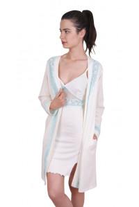 Комплект туники и халата с длинным рукавом Nicoletta Арт: 91079