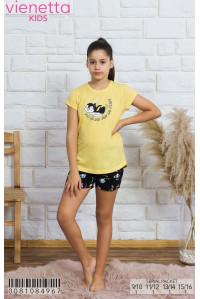 Детская пижама для сна из шорт и футболки Vienetta Kids Арт: 008108-4967