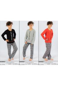 Детская пижама для мальчика из штанов и футболки с длинным рукавом Vienetta Kids Арт.: 104192-2496