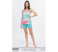 Комплект шорт и майки на широких шлейках Vienetta Secret Арт: 008086-5330