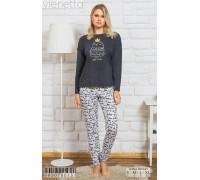 Комплект из штанов и футболки с длинным рукавом Vienetta Secret Арт: 005078-0151