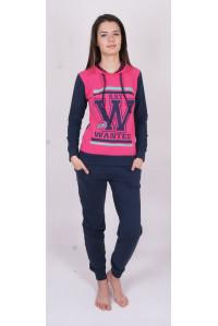 Комплект штанов и футболки с длинным рукавом на байке Nicoletta Арт: 88243