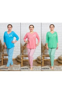 Комплект штанов и футболки с рукавом три четверти Vienetta Secret Арт: 004243-1623