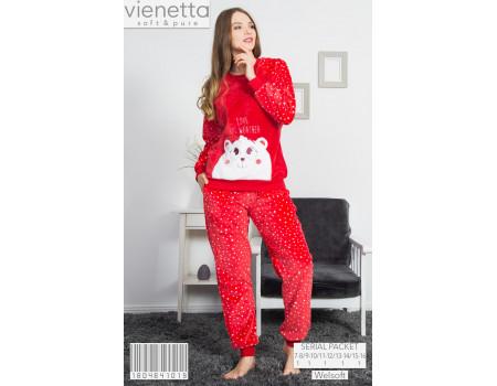 Женская пижама из штанов и футболки с длинным рукавом Welsoft Vienetta Secret Арт: 160464-1019