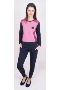 Комплект штанов и футболки с длинным рукавом на байке Nicoletta Арт: 88261