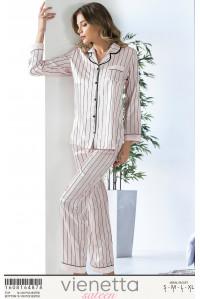 Комплект сатиновый из штанов и рубашки Vienetta Secret Арт: 160816-4878