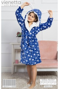 Халат из велсофта для девочки Vienetta Kids Арт: 160471-1026