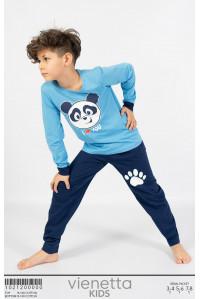 Детская пижама для мальчика из штанов и футболки с длинным рукавом Vienetta Kids Арт.: 102120-0000