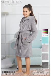 Халат из велсофта для девочки Vienetta Kids Арт: 903245-0000