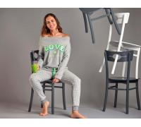 Комплект женский из штанов и футболки с длинным рукавом SEVIM Арт: 11330