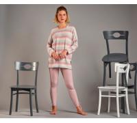 Комплект женский из штанов и футболки с длинным рукавом SEVIM Арт: 11600