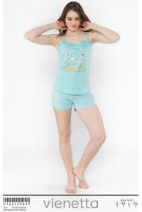Комплект шорт и майки на узких шлейках Vienetta Secret Арт.: 012212-0409