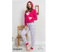 Комплект из штанов и футболки с длинным рукавом на поларе Vienetta Secret Арт: 005088-0111