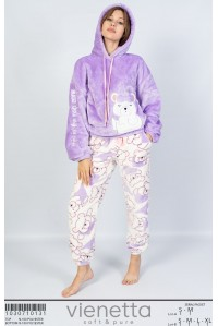 Комплект штанов и худи oversize из велсофта Vienetta Secret Арт.: 103071-0131