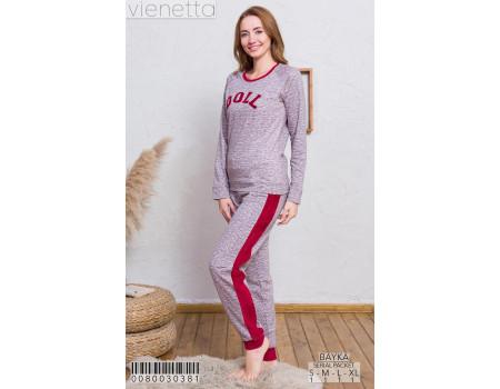 Комплект на байке из штанов и футболки с длинным рукавом Vienetta Secret Арт: 008003-0381
