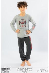 Детская пижама для мальчика из штанов и футболки с длинным рукавом Vienetta Kids Арт.: 104018-0000