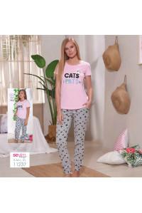 Комплект женский из штанов и футболки SEVIM Арт: 11237