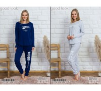 Комплект штанов и футболки с длинным рукавом интерлок Vienetta Secret Арт: 007041-0000