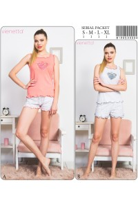 Комплект шорт и майки на широких шлейках Vienetta Secret Арт: 812053-3333
